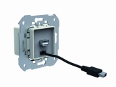 Блок питания USB+micro USB, вход 210-250VAC~, 47-63Гц, выход 5VDC-2A