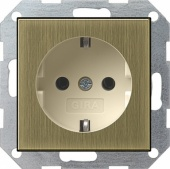 Розет с зазем конт System 55 бронза/кремовый