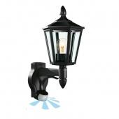 Steinel L 15 S IP 44 black/clear светильник сенсорный настенный уличный E27 1х100, мощ.60вт. Угол180