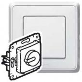 Legrand Cariva Бел Светорегулятор поворотный 300W для л/н (вкл поворотом)